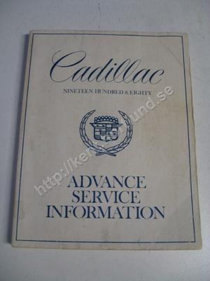 1980 Cadillac Advance service information