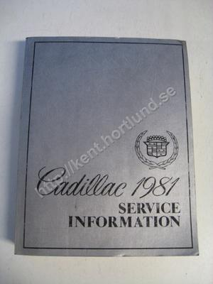 1981 Cadillac Service information