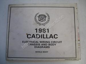 1981 Cadillac Electrical wiring circuit chassis and body diagrams