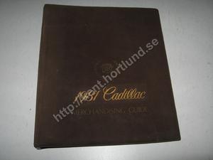 1981 Cadillac Merchandising guide