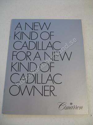 1981 Cadillac Cimarron Brochure