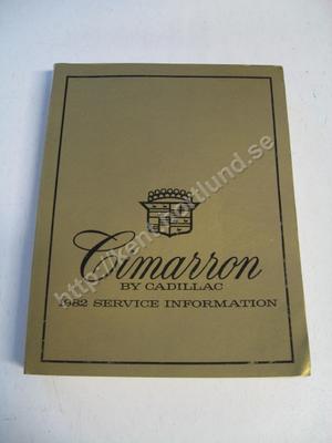 1982 Cadillac Cimarron Service information