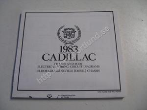 1983 Cadillac Eldorado and Seville (Diesel) Chassis and body electrical wiring circuit diagrams