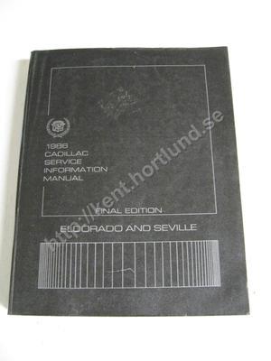 1986 Cadillac Eldorado och Seville Service information manual  final edition