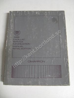 1986 Cadillac Cimarron Service information manual initial edition