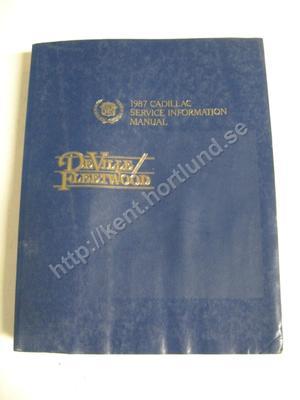 1987 Cadillac De Ville & Fleetwood  Service Information Manual