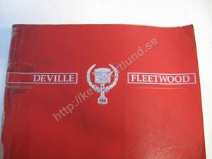 1990 Cadillac De Ville Fleetwood Service Information Manual