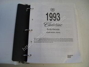 1993 Cadillac fleetwood rear wheel drive Preliminary service manual