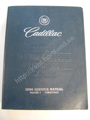 1994 Cadillac DeVille, DeVille Concourse, Eldorado & Seville Service Manual Vol 1 & 2