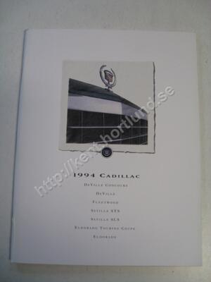 1994 Cadillac Försäljningsbroschyr