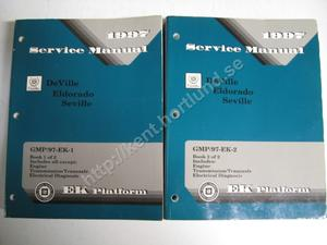 1997 Cadillac De Ville, Eldorado and Seville Service Manual 2 book set