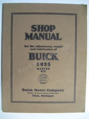 1925 Buick Master six Shop Manual