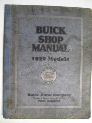 1929 Buick Shop Manual original