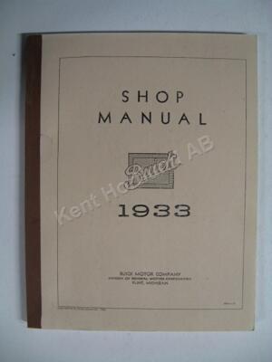 1933 Buick Shop Manual