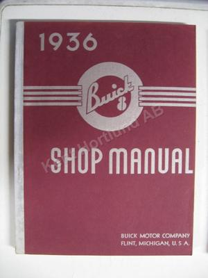 1936 Buick 8 Shop Manual original