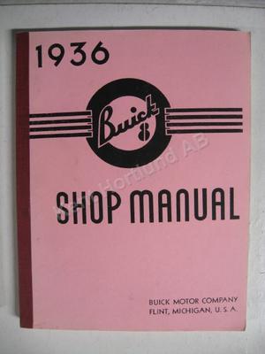 1936 Buick 8 Shop Manual