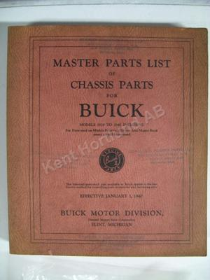 1928-1940 Buick Master Parts List of Chassis Parts