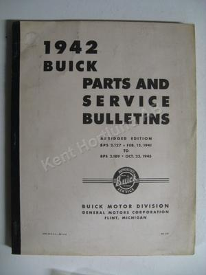 1942 Buick parts and service bulletins