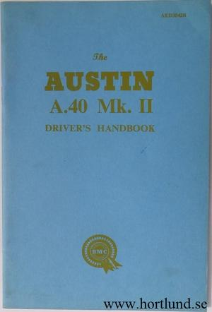 1962 1967 Austin A.40 Mk. II Instruktionsbok