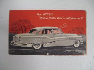 1953 Buick försäljningsbroschyr