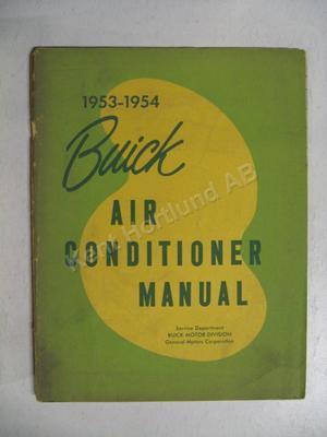 1953-1954 Buick Air Conditioner Shop Manual
