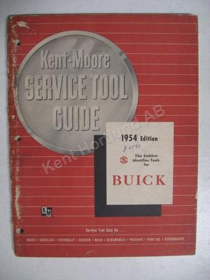 1954 Buick Kent-Moore Service Tool Guide