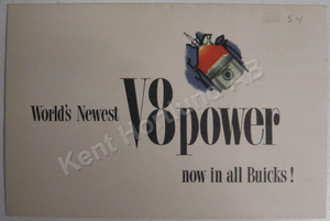 1954 Buick V8 broschyr