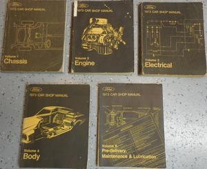 1973 Ford, Cougar, Torino, Ranchero, Comet, Montego, Pinto, Mustang, Thunderbird, Meteor, Maverick, Mercury, Lincoln Continental och Mark IV Shop Manual