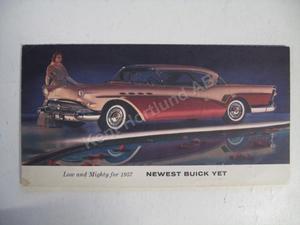 1957 Buick alla modeller folder broschyr