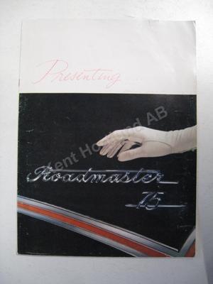 1957 Buick Roadmaster 75 Försäljningsbroschyr