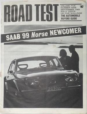 1969 SAAB 99 broschyr Road Test