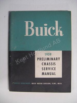1959 Buick Preliminary Chassis Service Manual