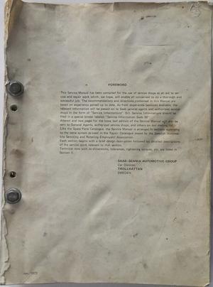 1969 - 1972 SAAB 99 Service Manual