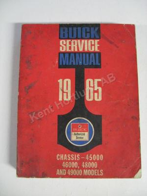 1965 Buick 45000, 46000, 480000 and 49000 Chassis Service Manual original