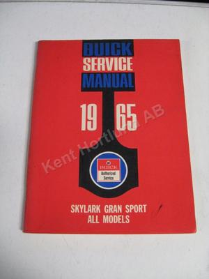 1965 Buick Skylark Gran Sport all Models Service Manual