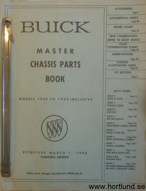 1940-65 Buick Master chassis parts book