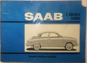 1965 SAAB 2 dörrars sedan 96-5 Instruktionsbok