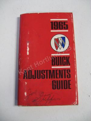 1965 Buick Adjustments Guide