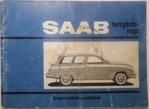 1965 SAAB herrgårdsvagn 95-5 Instruktionsbok