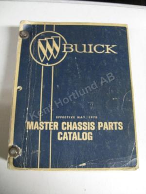 1970 Buick Master Chassis parts catalog
