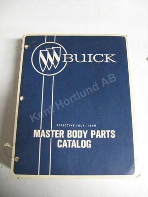 1970 Buick Master Body parts catalog
