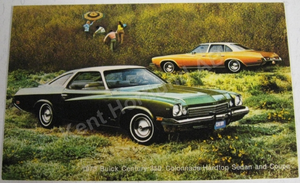 1973 Buick Century 350 Colonnade Hardtop Sedan and Coupe Vykort