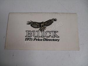 1975 Buick Price directory