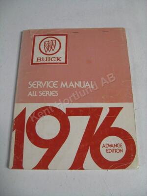 1976 Buick Service manual advance edition
