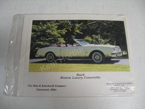 1979 Buick Riviera luxury convertible Försäljningsbroschyr