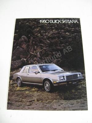 1980 Buick Skylark Försäljningsbroschyr