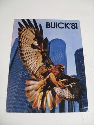 1981 Buick Försäljningsbroschyr
