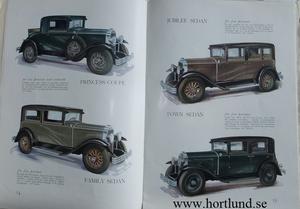 1929 Buick Lyxbroschyr svensk