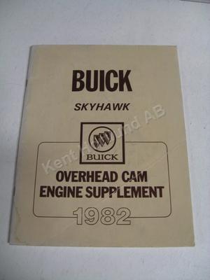 1982 Buick Skyhawk overhead cam engine supplement