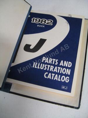 1982 Buick parts and illustration catalog J